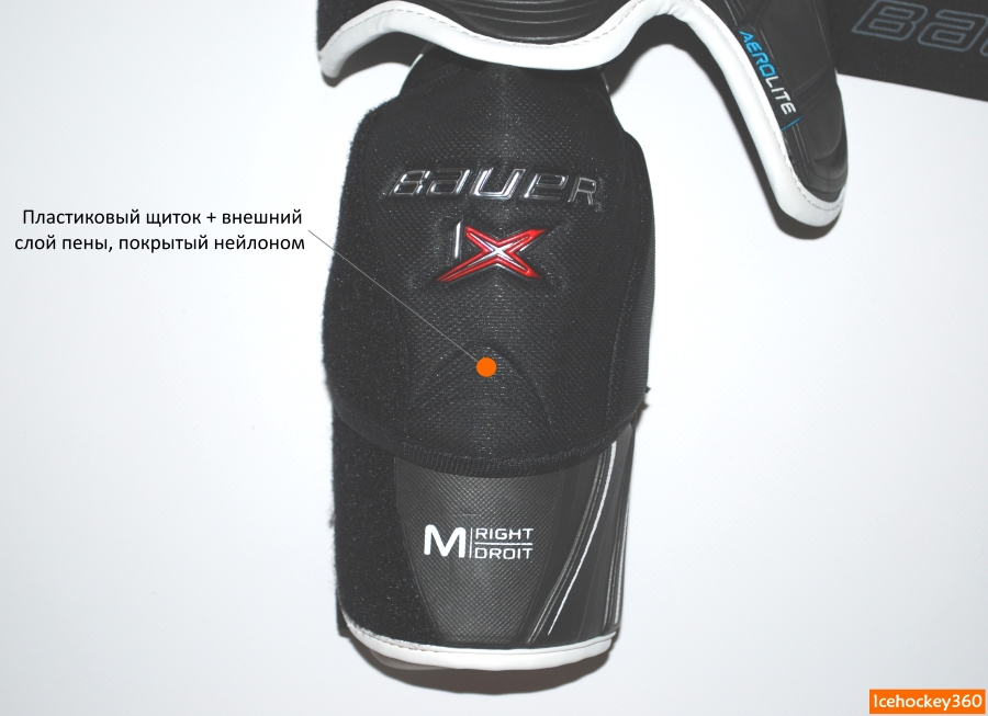 Защита локтевого сустава из формованного пластика.