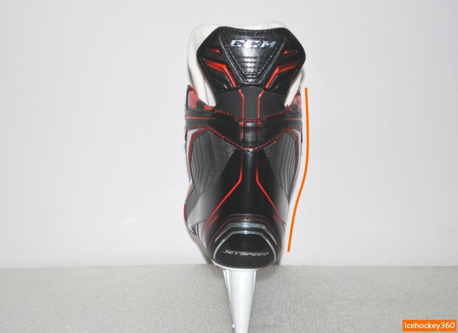 Контур внутренней стороны ботинка.