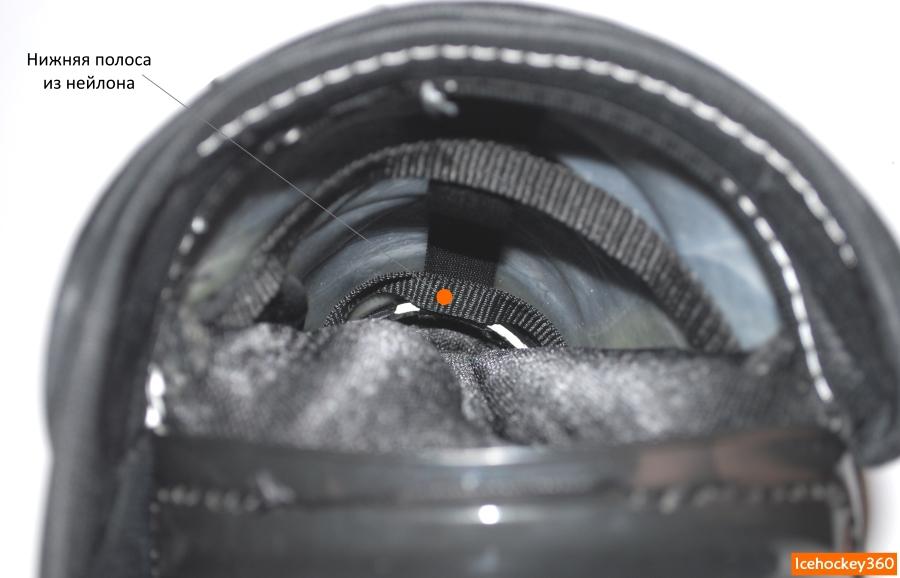 Ремешок из нейлона, расположенный в нижней части защиты голени.