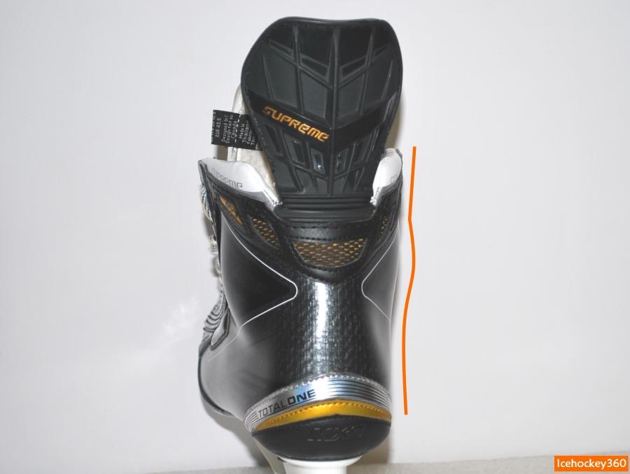 Контур внутренней стенки ботинка.