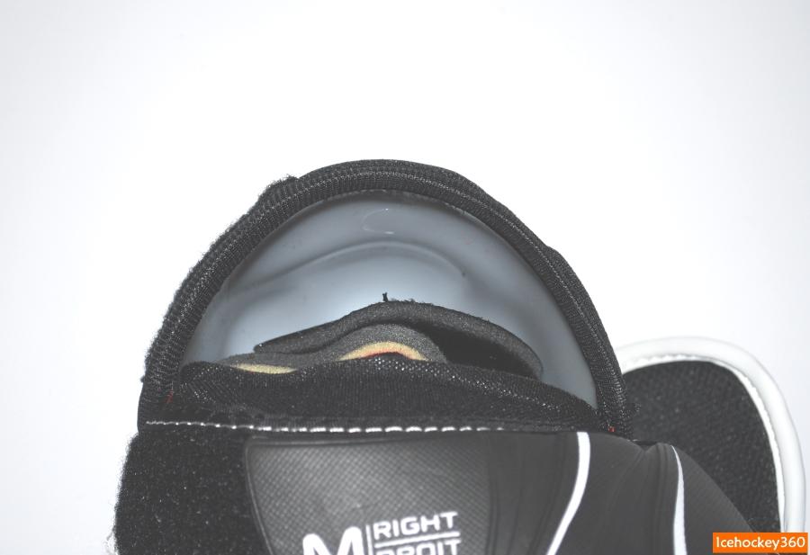 Геометрия пластиковой защиты локтевого сустава: вид изнутри.