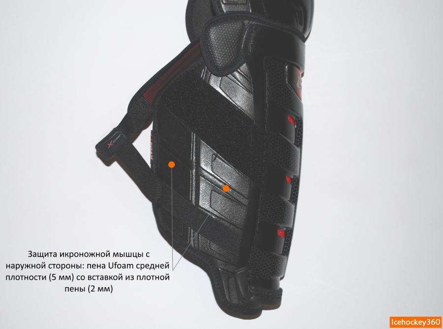 Дополнительная боковая защита икроножной мышцы с наружной стороны.