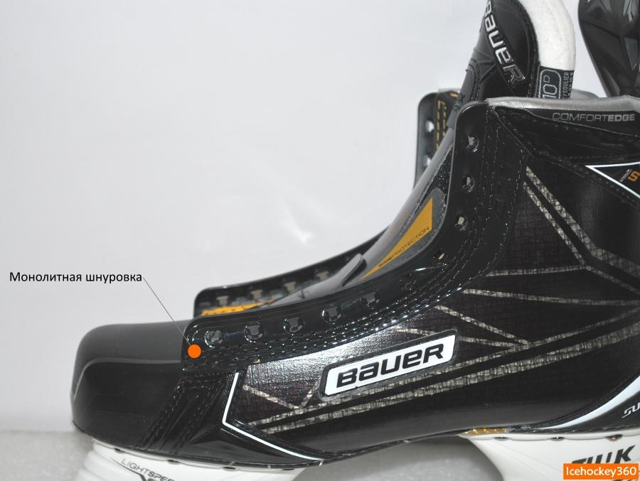 Монолитный пластиковый элемент для шнуровки ботинка.