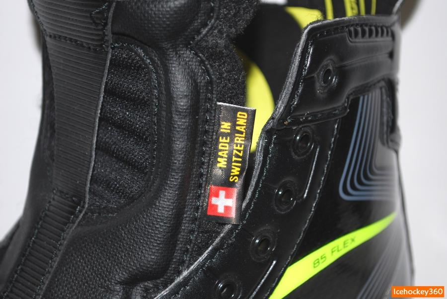 Коньки изготовлены в Швейцарии.