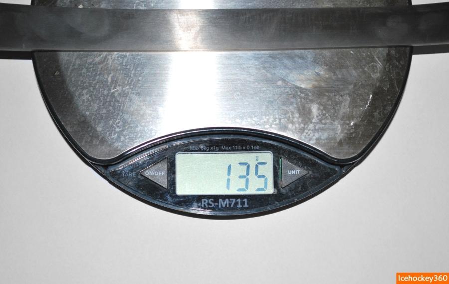Вес лезвия Cobra 2.0 Ti в размере 288 - 135 гр.