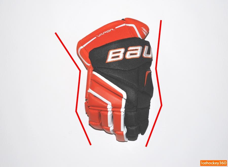 Форма перчатки современного зауженного кроя.