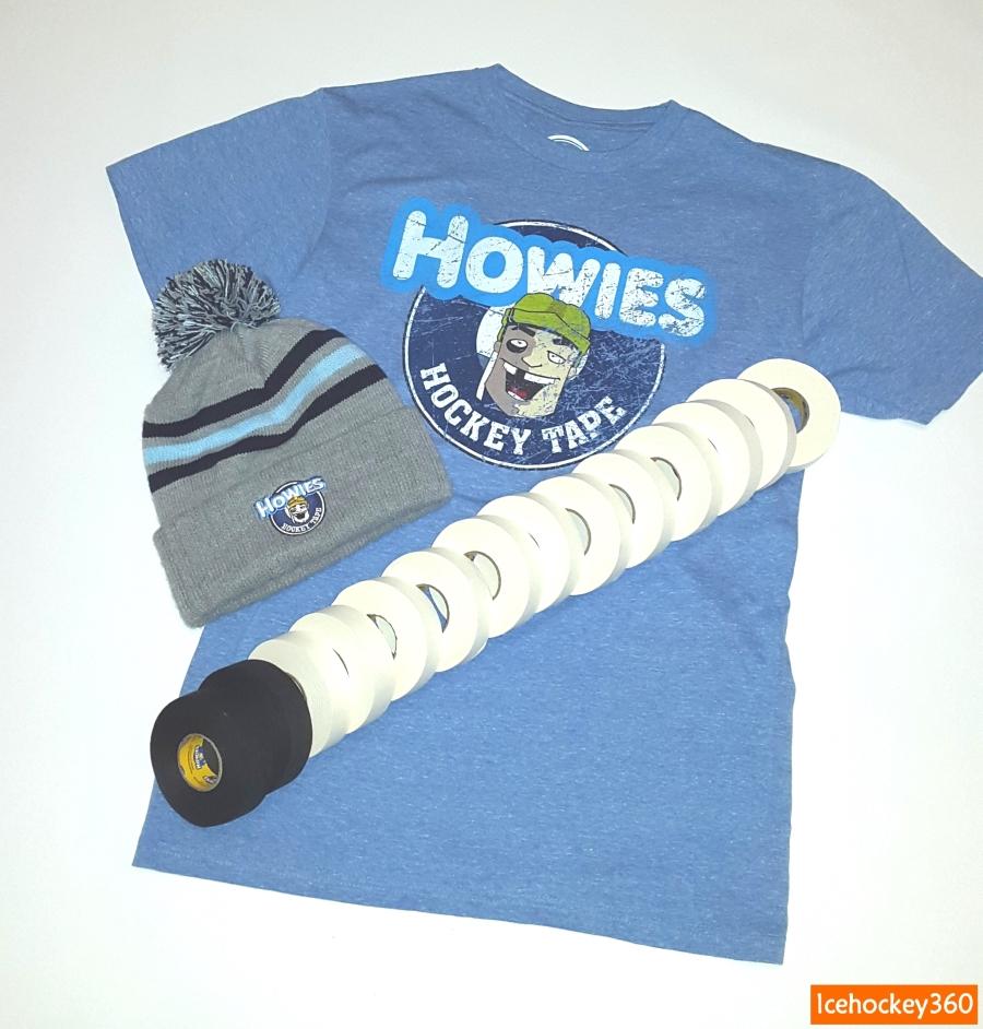 Небольшой запас ленты и одежда Howies.