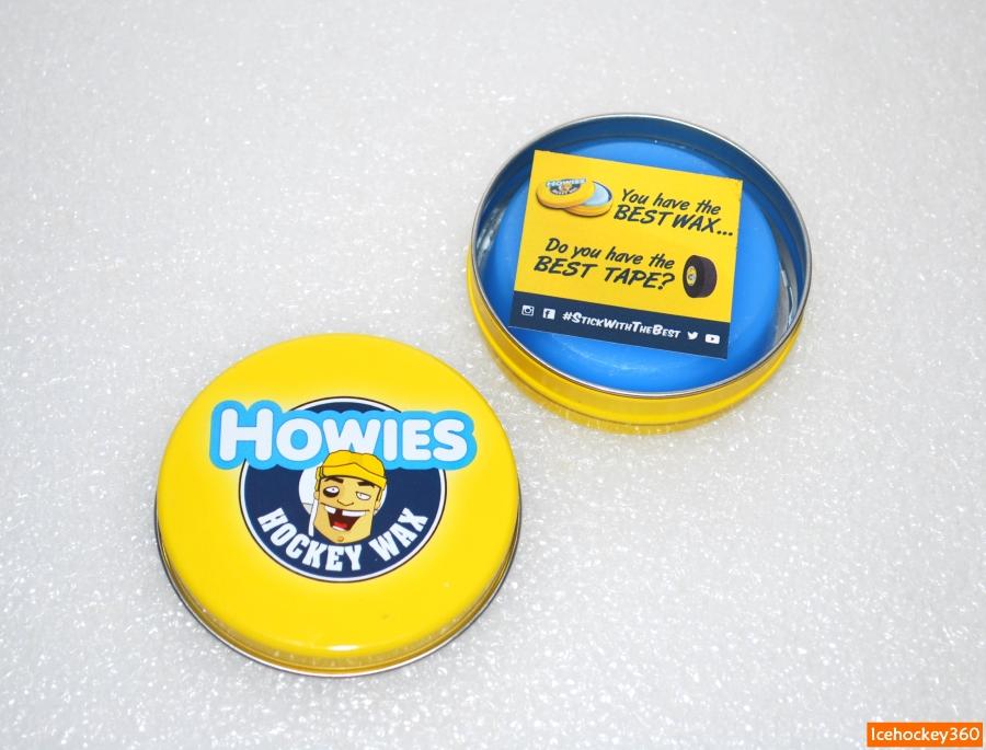Воск Howies упакован в круглую металлическую банку.