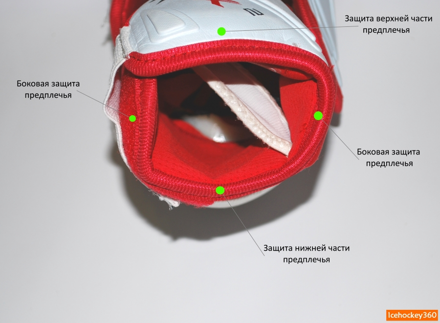 Четыре сегмента защиты предплечья.