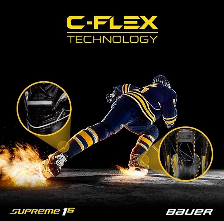 Технология C-Flex интегрирована в защитный язык и задник ботинка.