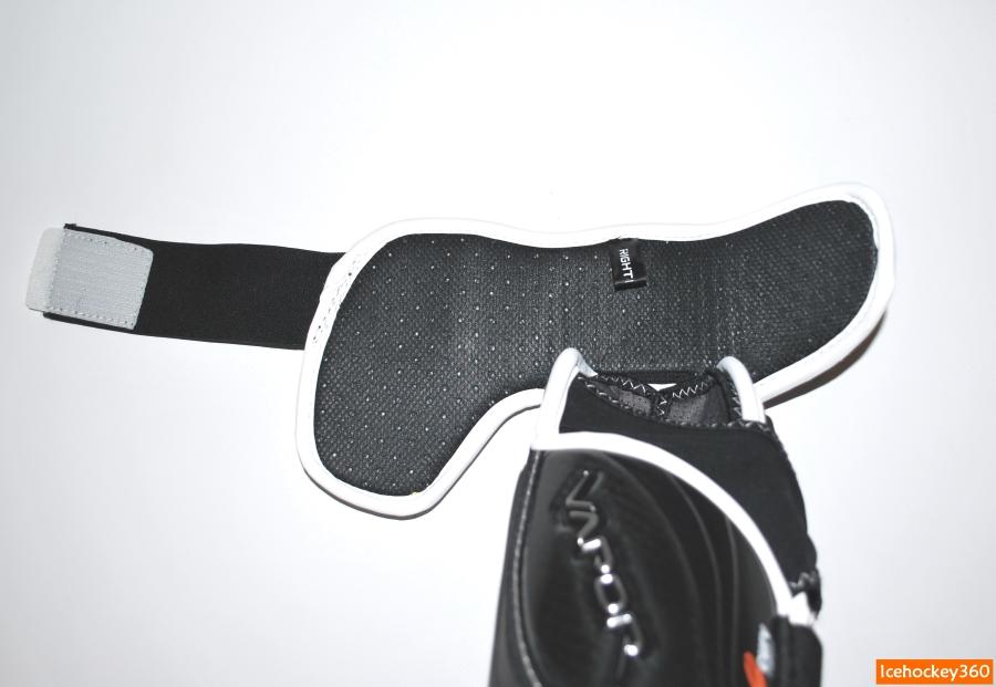 Внутренний слой перфорированной пены в конструкции защиты бицепса.