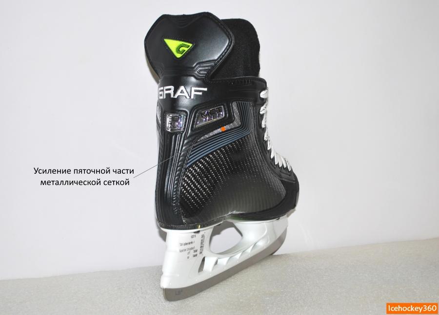Усиление пяточной части ботинка металлической сеткой с внутренней стороны.