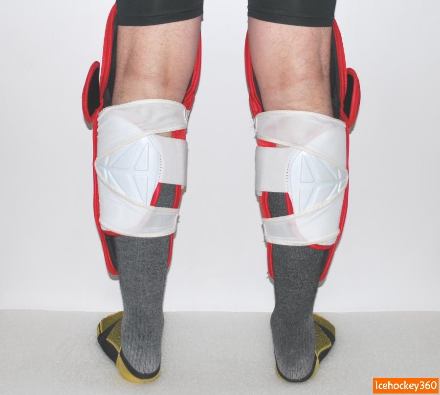 Посадка щитков на ноге. Объем икроножной мышцы — 41 см.