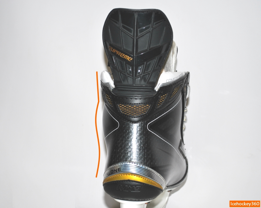 Контур внешней стенки ботинка.