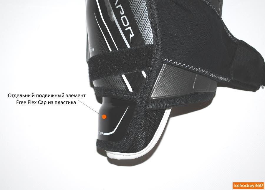 Подвижный элемент в нижней части защиты голени - технология Free Flex.