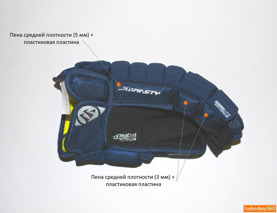 Защита боковой части перчатки со стороны мизинца.