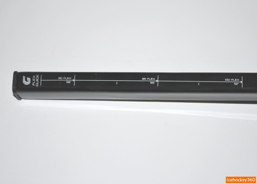 Шкала изменения жесткости клюшки при изменении ее длины.