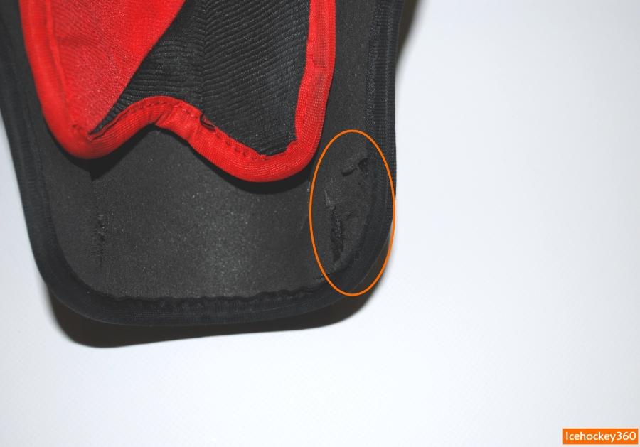 Прорезанная пена Ufoam на щитках CCM U+CL.