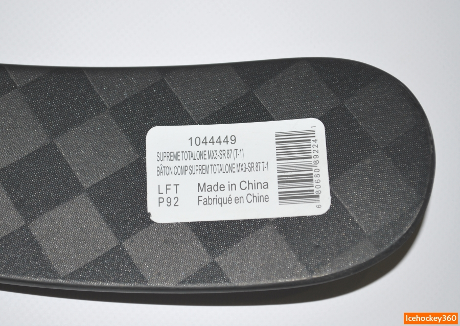 Информационная наклейка на кончике пера.