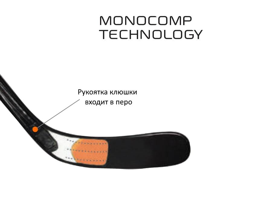Монолитная конструкция клюшки Monocomp.