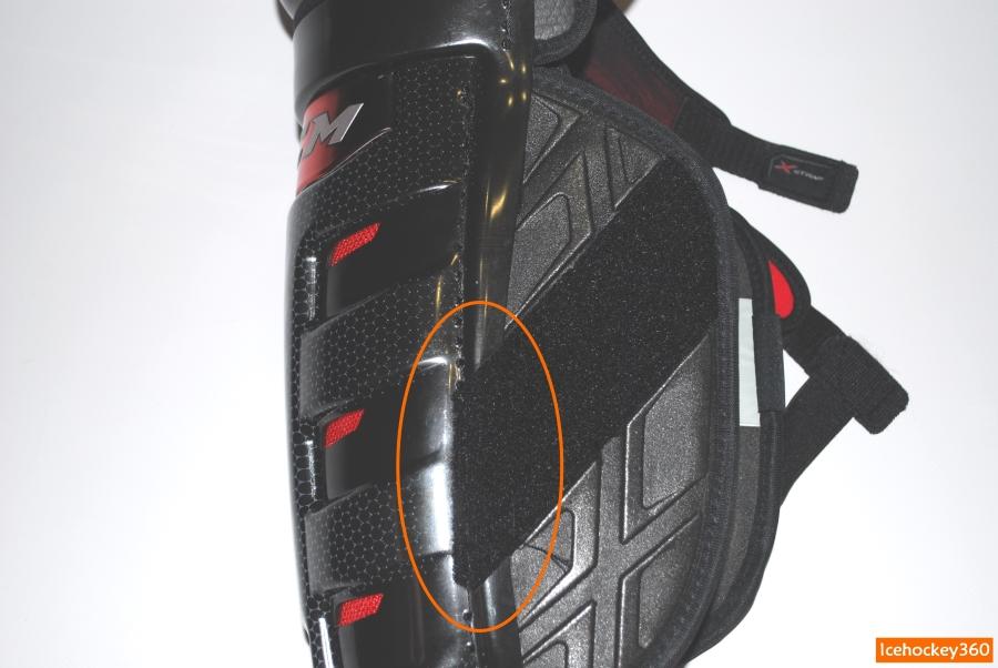 Расположение обороной части липы фиксации с внутренней стороны.