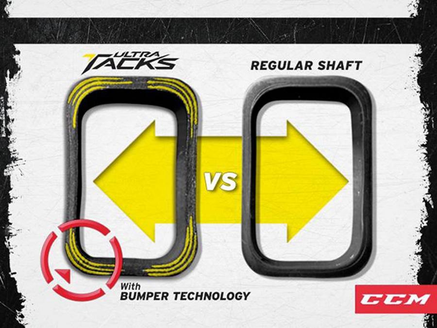 Схема усиления углов рукоятки клюшки Ultra Tacks технологией Bumper.
