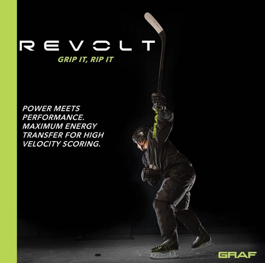 В линейку Revolt входят клюшки с точкой прогиба в середине рукоятки (mid kick point).