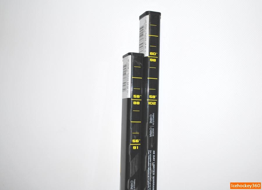 Слева — клюшка в версии 85 flex (60″), справа — 95 flex (62″).