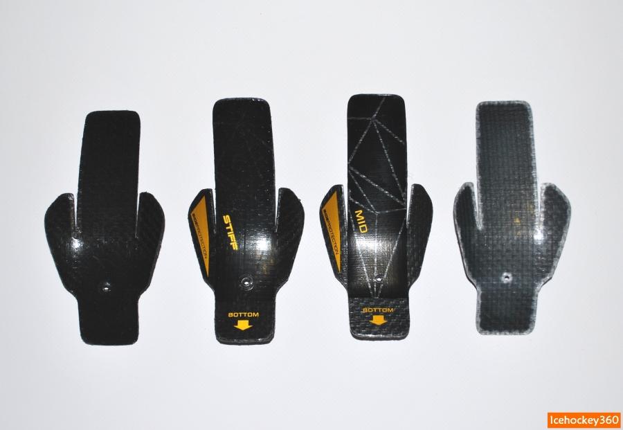 В комплект входят вставки двух типов: жесткая (stiff) и средняя (mid).