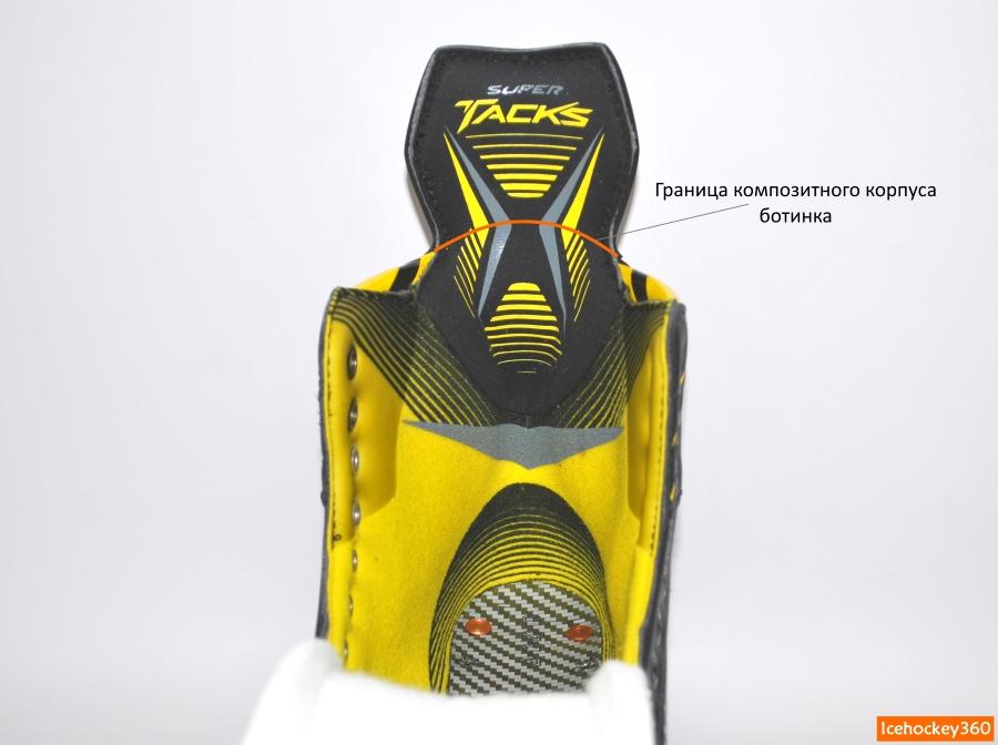 Граница корпуса ботинка.