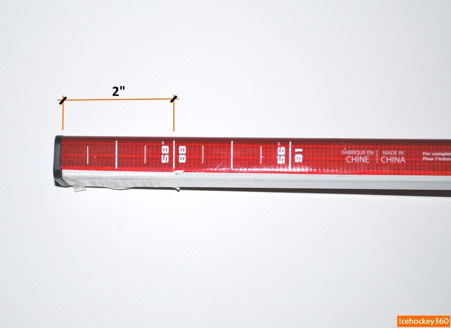 Интенсивность набора жесткости клюшки при изменении ее длины.