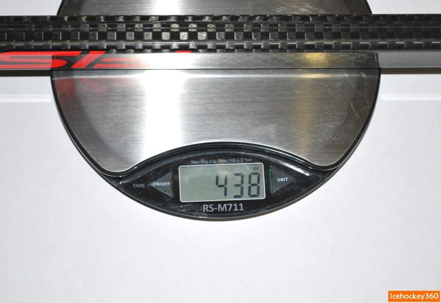 Вес клюшки Fischer CT850 (85 flex, загиб Р92) - 438 гр.