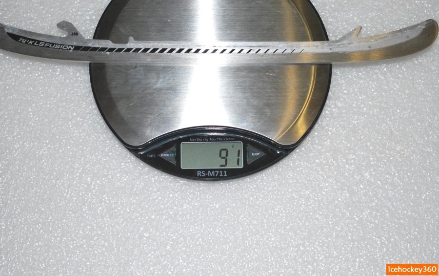 Вес лезвий LS Fusion в размере 288 — 91 гр.
