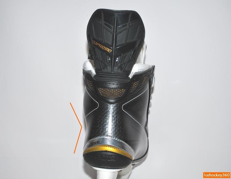 Заломы в нижней части ботинка для фиксации пятки.
