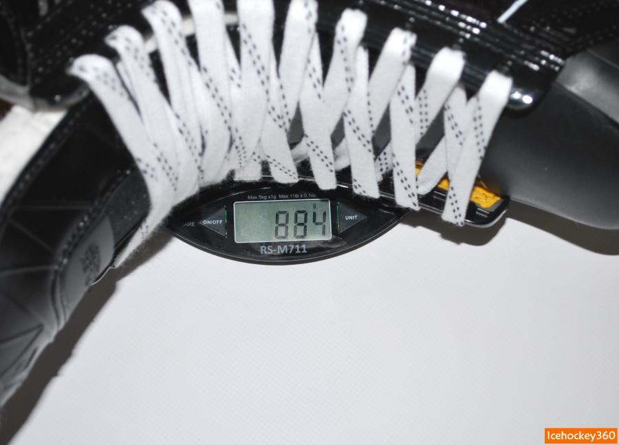 Вес коньков Bauer Supreme 1S в размере 10D (со стандартной стелькой).