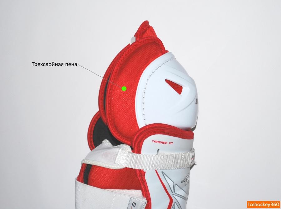Боковая защита коленного сустава с внутренней стороны.